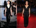 Freida Pinto In Ralph Lauren & Louis Vuitton - 'Trishna' London Film Festival Premiere & Photocall