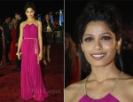 Freida Pinto In Salvatore Ferragamo - 'Black Gold' Doha Tribeca Film Festival World Premiere