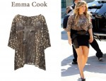 In Hilary Duff's Closet - Emma Cook Melissa printed silk-chiffon top