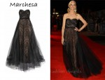 In Joely Richardson's Closet - Marchesa Tulle & Lace Gown