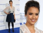 Jessica Alba In Christian Dior - The Clinton Foundation's 'A Decade Of Difference' Gala