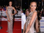 Jourdan Dunn In Roberto Cavalli & Mark Fast - 2011 MOBO Awards