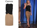 In Kate Bosworth's Closet - Carven Two-Tone Dress