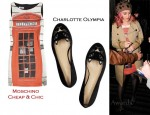 In Katy Perry's Closet - Moschino Cheap & Chic Telephone Box Print Dress & Charlotte Olympia Kitty Flats