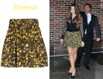 In Khloe Kardashian's Closet - Thakoon Batik Print Stretch Cotton Skirt