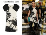 In Lucy Liu's Closet - Giambattista Valli Floral Dress