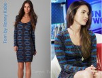 In Megan Fox's Closet - Torn by Ronny Kobo Zoe Aztec Print Ruched Dress