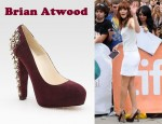 In Michelle Monaghan's Closet - Brian Atwood Power Studs Suede Pumps
