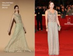 Michelle Yeoh In Valentino & Salvatore Ferragamo - 'The Lady' Rome Film Festival Premiere & Photocall