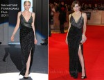 Milla Jovovich In Salvatore Ferragamo - 'The Three Musketeers' World Premiere