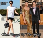 Best Dressed Of The Week - Miranda Kerr & Crystal Renn In Zac Posen