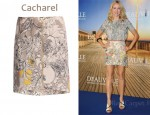 In Naomi Watts' Closet - Cacharel Poppy Print Skirt