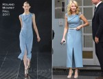 Naomi Watts In Roland Mouret - Late Night With Jimmy Fallon