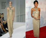 Natalie Cole In Oscar de la Renta - 2011 Angel Ball