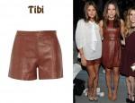 In Olivia Palermo's Closet - Tibi Leather Shorts