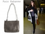 In Anne Hathaway's Closet - Paco Rabanne Chain Bag