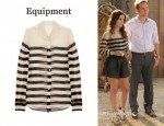 In Rachel Bilson's Closet - Equipment Sophie Striped Silk-Chiffon Shirt