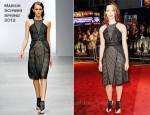 Rebecca Hall In Marios Schwab - 'The Awakening' London Film Festival Premiere
