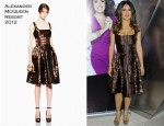 Salma Hayek In Alexander McQueen - 'Puss In Boots' New York Screening
