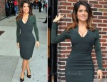 Salma Hayek In Antonio Berardi & Gucci - Late Show with David Letterman