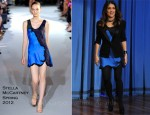 Salma Hayek In Stella McCartney - Late Night With Jimmy Fallon