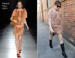Sidewalk Style: Kylie Minogue's Fluffy Prada Dress