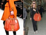 Sidewalk Style: Rosie Huntington-Whiteley's Burberry Prorsum Hedwig Bag