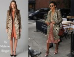 In Solange Knowles' Closet - By Malene Birger Rufe Faux Leopard Coat & Alexander Wang
