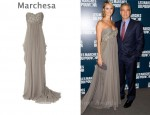 In Stacy Keibler's Closet - Marchesa Silk-Crepe Strapless Gown