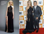 Stacy Keibler In Versace - 'The Descendants' New York Film Festival Premeire