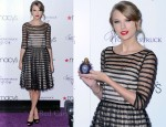 Taylor Swift In Tracy Reese - 'Wonderstruck' Fragrance Launch