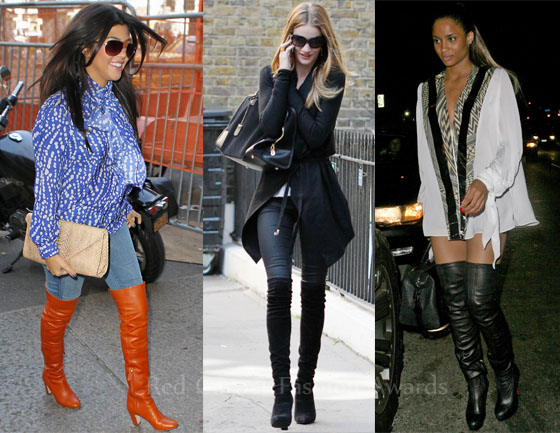 Celebrities Love Thigh High Boots Red Carpet Fashion