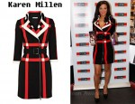 In Tulisa Contostavlos' Closet - Karen Millen Panelled Check Dress