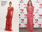Uma Thurman In Carolina Herrera - 2011 Golden Heart Awards