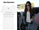 In Sandra Bullock's Closet - Zoe Karssen French Kissing Cotton and Modal-Blend T-Shirt