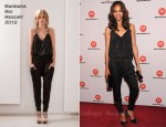 Zoe Saldana In Barbara Bui - DROID RAZR By Motorola And MOTOACTV Launch Event
