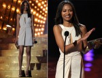 Zoe Saldana In J. Mendel - Spike TV's Scream 2011 Awards