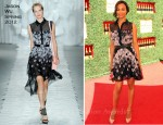 Zoe Saldana In Jason Wu - Veuve Clicquot Polo Classic Event