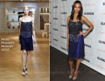 Zoe Saldana In Reed Krakoff - 2011 Glamour Reel Moments Premiere