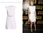 In Rosamund Pike's Closet - Alexander McQueen Fancy Flecked Tweed Dress