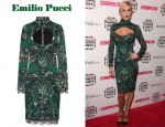 In Abbey Clancy's Closet - Emilio Pucci Lace Trimmed Wool Jersey Dress