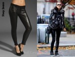 In Alessandra Ambrosio's Closet - Siwy Mick Leather Panel Jeans