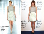 Alexa Chung In Christopher Kane - 2011 British Fashion Awards