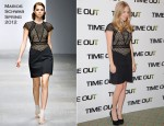 Amanda Seyfried In Marios Schwab - 'In Time' Paris Photocall
