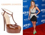 In Amber Lancaster's Closet - Giuseppe Zanotti Patent Leather T-Strap Peep-Toe Sandals