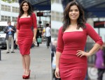 America Ferrera In Nicole Miller - 'Chicago' London Photocall
