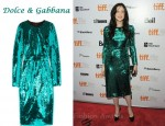 In Andrea Riseborough's Closet - Dolce & Gabbana Metallic Paillette Embellished Dress