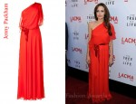 In Angelina Jolie's Closet - Jenny Packham Red Flame One Shoulder Dress