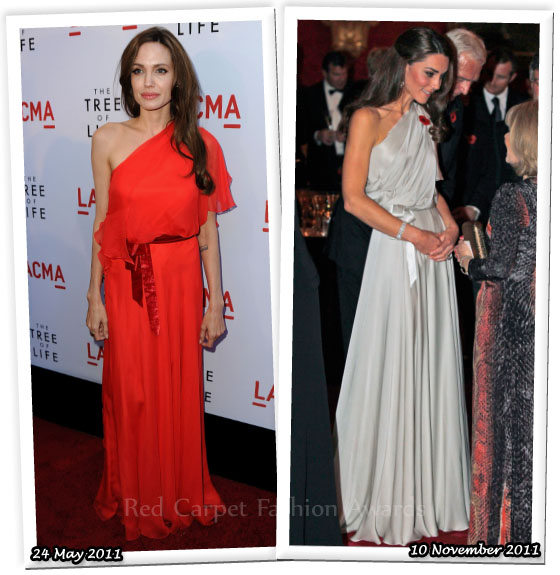 c7854d8ff4d1 Who Wore Jenny Packham Better  Angelina Jolie or Catherine