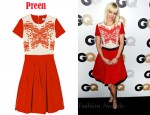 In Anna Faris' Closet - Preen Sunshine Beaded Stretch-Crepe Dress